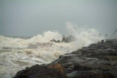 Tempestade do molhe Imagens de Stock