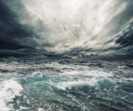 Tempestade do oceano fotografia de stock