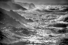 Tempestade do oceano. imagem de stock