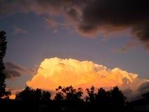 Tempestade do por do sol Imagem de Stock Royalty Free