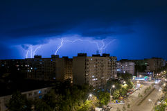 Tempestade do relâmpago Fotos de Stock Royalty Free