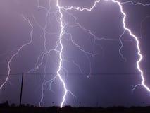 Tempestade do relâmpago Fotografia de Stock Royalty Free