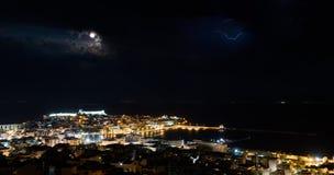 Tempestade do relâmpago Fotografia de Stock