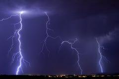 Tempestade do relâmpago de Catalina Imagem de Stock Royalty Free