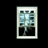 Tempestade do trovão fora da janela ilustração royalty free