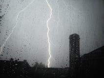 Tempestade do trovão no verão Foto de Stock