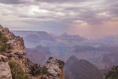 Tempestade do verão de Grand Canyon Fotografia de Stock