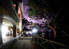 Tempestade elétrica em Isla Fuerte Fotografia de Stock Royalty Free
