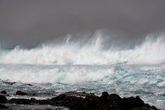 Tempestade em Oceano Atlântico Fotografia de Stock
