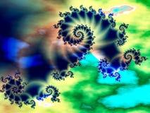 Tempestade em um fractal ilustração stock