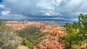 A tempestade está vindo, Bryce Canyon, Utá fotografia de stock