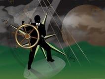 Tempestade financeira ilustração royalty free