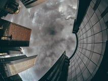 Tempestade na cidade, vintage Imagem de Stock Royalty Free
