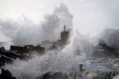 Tempestade na costa Foto de Stock
