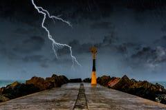 Tempestade na costa atlântica foto de stock royalty free