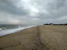 Tempestade na praia foto de stock royalty free