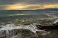 Tempestade na praia local Fotos de Stock Royalty Free
