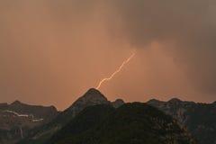 Tempestade nas montanhas Foto de Stock