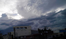 Tempestade nebulosa Foto de Stock