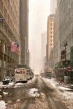 Tempestade Niko da neve New York City no 9 de fevereiro de 2017 fotografia de stock royalty free