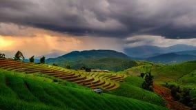 Tempestade no campo Imagem de Stock Royalty Free