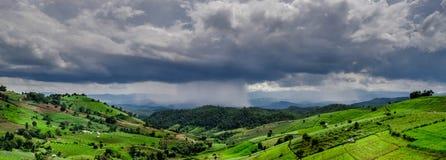 Tempestade no campo Imagem de Stock