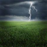 Tempestade no campo II Imagens de Stock Royalty Free