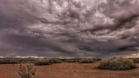 Tempestade no deserto de Califórnia Imagens de Stock Royalty Free