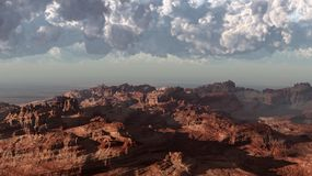 Tempestade no deserto vermelho Fotos de Stock