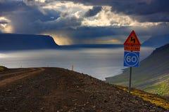 Tempestade no fjord Foto de Stock Royalty Free