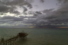 Tempestade no horizonte Fotos de Stock Royalty Free