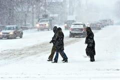 Tempestade no inverno Imagem de Stock Royalty Free