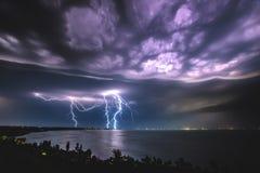 Tempestade no lago Balaton fotos de stock