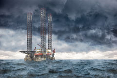 Tempestade no mar Fotos de Stock