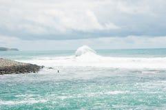 Tempestade no mar Fotografia de Stock Royalty Free