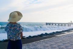 Tempestade no mar Fotos de Stock Royalty Free