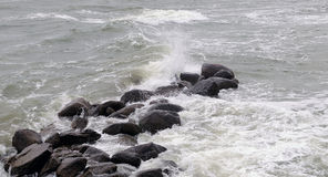 Tempestade no mar Báltico Fotos de Stock Royalty Free