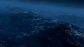 Tempestade no mar 3d rendem Imagens de Stock