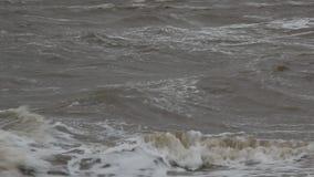 A tempestade no mar de Azov video estoque