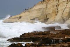 Tempestade no mar Mediterrâneo Fotografia de Stock