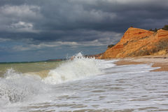 Tempestade no Mar Negro. Fotografia de Stock