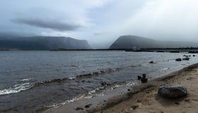 tempestade no nfdl ocidental da lagoa do ribeiro imagem de stock