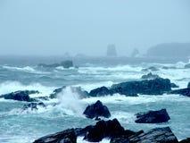 Tempestade no oceano de Terra Nova Imagem de Stock