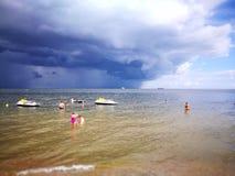 tempestade Olhar artístico em cores vívidas Foto de Stock Royalty Free