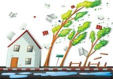 Tempestade pesada na cidade ilustração royalty free