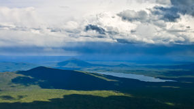 Tempestade sobre as cascatas Fotografia de Stock