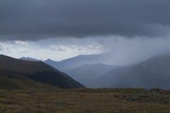 Tempestade sobre as Montanhas Rochosas Foto de Stock