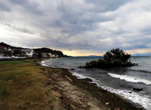 Tempestade sobre Lake Biwa, Japão Fotos de Stock