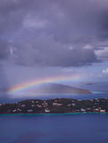 Tempestade sobre o louro de Magens em St Thomas USVI Fotos de Stock
