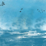 Tempestade sobre o mar Fotografia de Stock Royalty Free